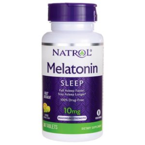 Melatonina 10mg FAST DISSOLVE sublingual 60 tablets Sabor citrus NATROL