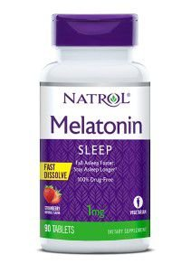 Melatonina 1 mg FAST DISSOLVE sublingual 90 tablets Sabor Strawberry NATROL