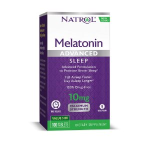 Melatonina Advanced 10mg TIME RELEASE 100 tablets NATROL (caixa)