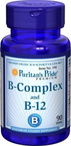 Vitamina B Complex and Vitamin B 12  90 tablets PURITANS Pride
