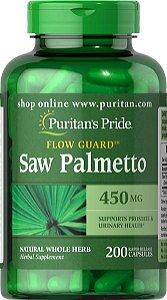Saw Palmetto 450 mg 200 capsules PURITANS Pride