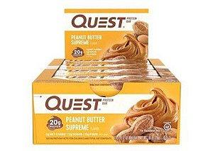 Quest Bar peanut butter supreme  Caixa com 12 Unidades Frete Grátis VENCIMENTO 12/19