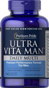 Ultra Vita Man multivitaminico Time Release 90 caplets PURITANS Pride