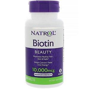 Biotina 10.000mcg 100 tablets NATROL