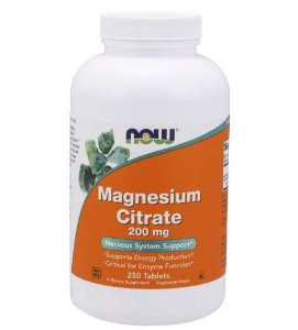 Magnesium Citrate 200mg 250tablets NOW Foods