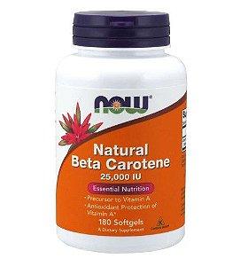 Beta Carotene Natural 25,000 IU 180 Softgels