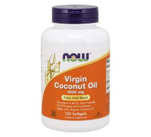 Virgin Coconut Oil 1000 mg 120 Softgels NOW Foods