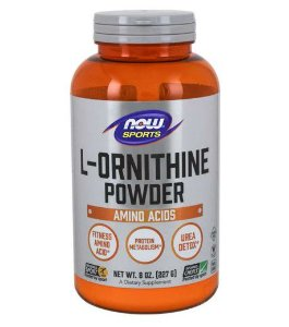 L Ornithine Powder em pó 227g NOW Foods
