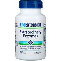 Extraordinary Enzymes 60 capsules LIFE Extension vencimento 05/2020