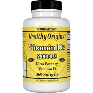 Vitamina D3 5000iu 360 softgels HEALTHY Origins
