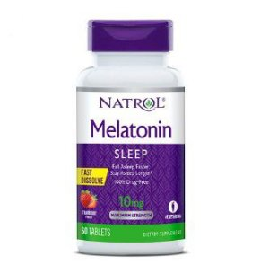 Melatonina 10mg FAST DISSOLVE sublingual 60 tablets Sabor morango NATROL