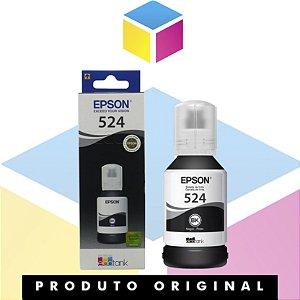 Tinta Epson 524 T 524 Preto | T524120AL T524120 | L 6580 L 15150  L 15160 | Original 127ml