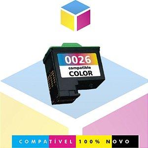 Cartucho de Tinta Compatível Lexmark 26 10N0026 Colorido | Z645 Z647 X1270 X1185 Z513 X1195 | 12,5ml