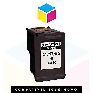 Cartucho de Tinta Compatível com HP 27 Preto C8727AB C8727AL C8727A C8727CB | 19ml