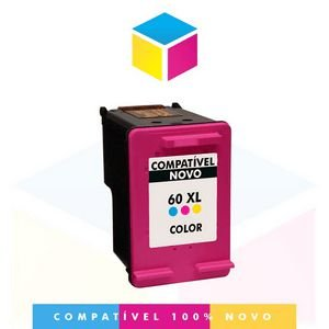 Cartucho de Tinta Compatível com HP 60 XL 60 Color CC 644 WB | F 4480 F 4580 F 4280 D 1660 C 4780 C 4680 |13 ml