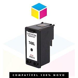 Cartucho de Tinta Compatível com HP 74 XL 74 CB 336 WB Preto | C 4480 C 4280 C 5280 D 4200 D 4263 25ml