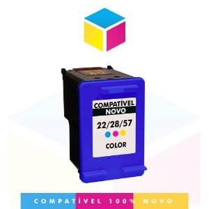 Cartucho de Tinta Compatível HP 22 Colorido C9352AB C9352AL C9352A C9352CB | 14ml