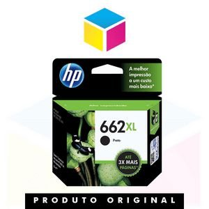 Cartucho de Tinta HP 662 XL 662 CZ 106 AB CZ 106 AL preto | Original 6.5ml