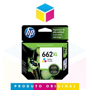 Cartucho de Tinta HP 662 XL 662 CZ 106 AB CZ 106 AL Colorido | Original 8ml