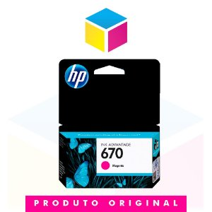 Cartucho de Tinta HP 670 CZ 115 AB Magenta | Original HP | 4 ml