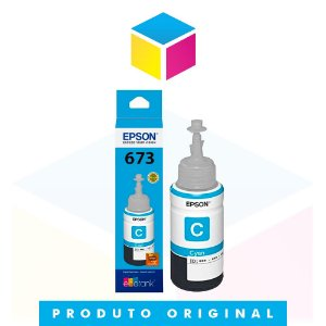 Tinta Epson original 673 T 673 T 673220 Ciano | L 805 L 800 L 810 L 1800 | 70ml