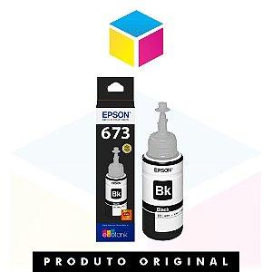 Tinta Epson original 673 T 673 T 673120 Preta | L 800 L 810 L 1800 L 805 |70ml