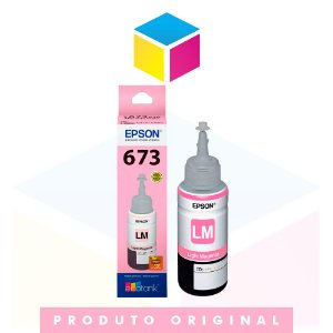 Tinta Epson 673 T 673 T 673520 Magenta Claro (light) | L 800 L 805 L 810 L 1800 | Original 70ml