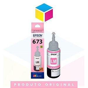 Tinta Epson 673 T 673 T 673520 Magenta Claro (light) | L 800 L 805 L 810 L 1800 | Original 70ml