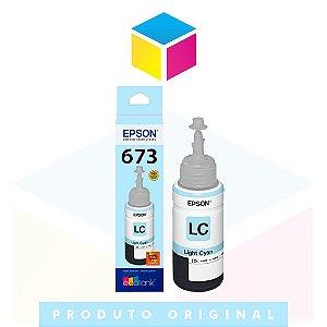 Tinta Epson 673 T673 T673520 Ciano Claro (light) | L800 L805 L810 L1800 | Original 70ml