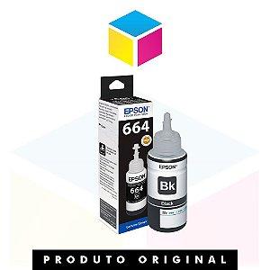 Tinta Epson 664 original T664120AL T664120 T664 Preto | L200 L220 L110 L355 L555 L210 L455 L365 | 70ml