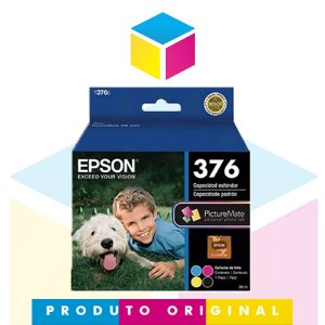 Cartucho de Tinta Fotográfico Epson 376 T 376 | T 376020 4 Cores | PM 525 PM 525 | Original | 39 ml