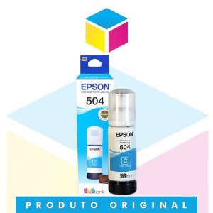 Tinta Epson 504 T504 Ciano |T504220AL | T504220 | L4150 | L4160 | L6191 | L6161 | L6171 | Original 70ml