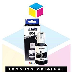 Tinta Epson 504 T 504 Preto | T 504120 AL T 504120 | L 4150 L 4160  L 6191  L 6161 L 6171 | Original 127ml