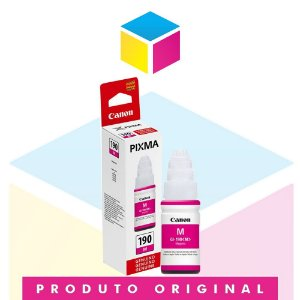Tinta Canon GI-190 M Magenta | Tanque de Tinta Pixma Maxx G 1100 G 2100 G 3100 G 3102 | Original 70ml