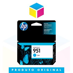 Cartucho de Tinta HP 951 CN 050 AL Ciano | 8610 8620 8100 8600 Plus 8630 | Original 8ml