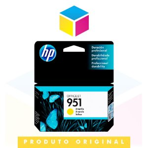 Cartucho de Tinta HP 951 CN 052 AL Amarelo Yellow | 8610 8620 8100 8600 Plus 8630 | Original 8ml