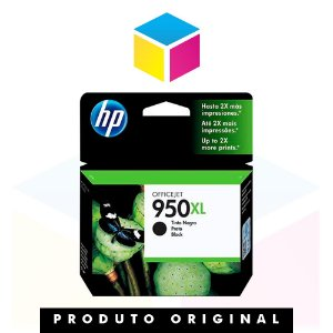 Cartucho de Tinta HP 950 XL 950 Preto | CN 045 AL 8610 8620 8100 8600 Plus 8630 | Original 53ml