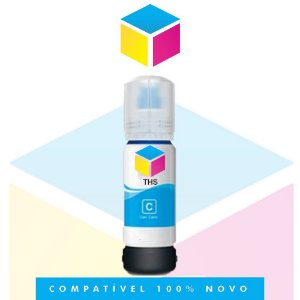 Tinta Compatível Epson 544 T 544 T 544220 Ciano |L 1110 | L 3150| L 3110 | L 5190| 65ml