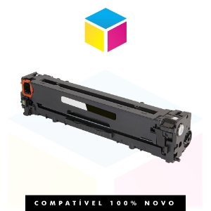 Toner Compatível HP CB 540 A CB 540 AB 125 A Preto | CP 1215, CP 1510, CP 1515, CP 1518, CM 1312 | 2.1k