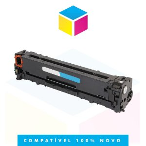 Toner Compatível HP CB541A CB541AB 125A Ciano | CP1510 CP1515 CP1518 CP1215 CM1312 | 1.4k