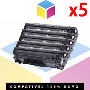 Kit com 5 Toner Compatível HP CB 435 A CE 285 A ,CE 278 A, CB 436 A | P 1102, P 1102 W, M 1132, M 1210, M 1212, M 1130 |1.8k