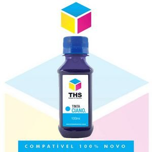 Tinta Corante compatível para HP Ciano Cyan | 100 ml