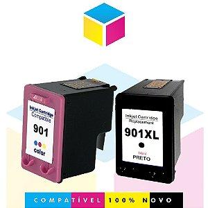 Kit HP 901 901 XL Preto Compatível + HP 901 901XL Colorido Compatível |CC654AL CC654AB CC653AB CC656AB CC656A |  J4580 J4680 J4660 J4500 J4550