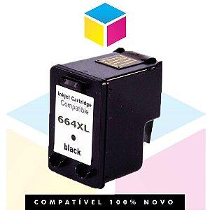 Cartucho HP 664 XL Preto Compatível | DeskJet 1115 2136 3636 3836 3536 4676 | 14ml