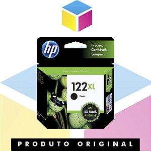 Cartucho de tinta HP 122XL Preto Original | 122 CH563HB | 8ML