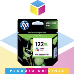 Cartucho De Tinta HP 122 XL Original Colorido | B 122 CH 564 HB | 7,5ML