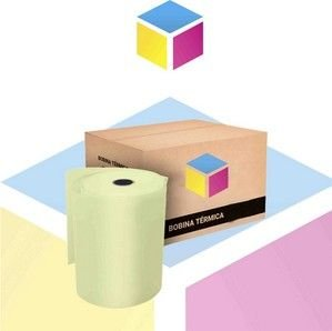 Bobina Térmica 80 mm x 40 m caixa com 30 unidades Amarela