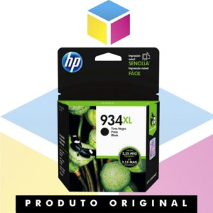 Cartucho de Tinta HP 934 XL C2P23AL Preto | 6230 E 3 E 03 A 6830 E 3 E 02 A 935 | Original 25ML