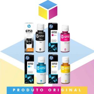 Kit Tinta HP Original GT 53 Preto 90 ml + Tinta HP GT 52 Ciano 70 ml + Tinta HP GT 52 Magenta 70 ml + Tinta HP GT 52 Yellow / Amarelo 70 ml | GT 5822 GT5822 GT-5822