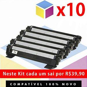 Kit com 10 Toner Compatível Brother TN 1060 Preto | DCP 1602 DCP 1512 DCP 1617 NW HL 1112 HL 1202 HL 1212 W  TN 1000 | 1K